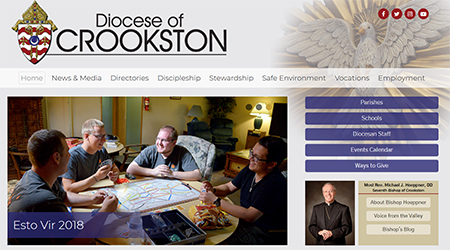 Diocesan website, communication efforts transformed