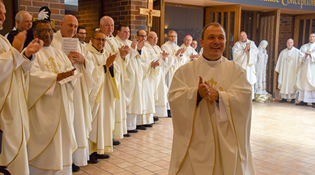 Newly-ordained Father Brunn ready to bring the sacraments to God's people